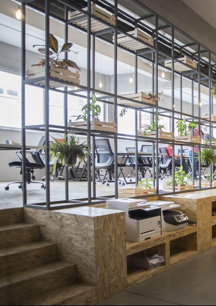 cloison végétal bureau espace coworking moderne design paris tendance