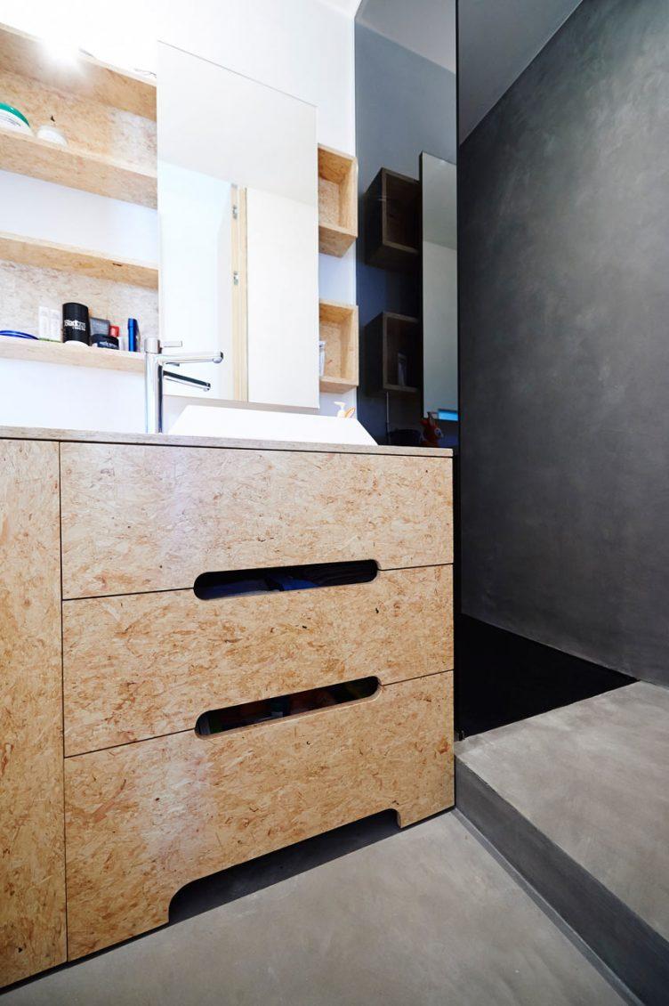 cuisine meuble osb sur-mesure style scandinave minimaliste design