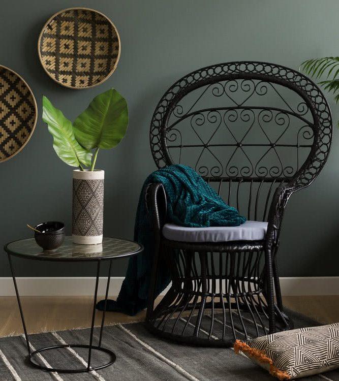 fauteuil emmanuelle rotin noir deco blog clemaroundthecorner urban jungle