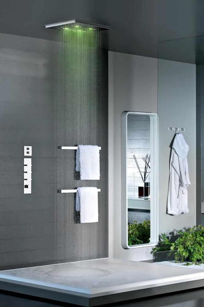 MASTERDOUCHE douche italienne surelevee moderne design blanche