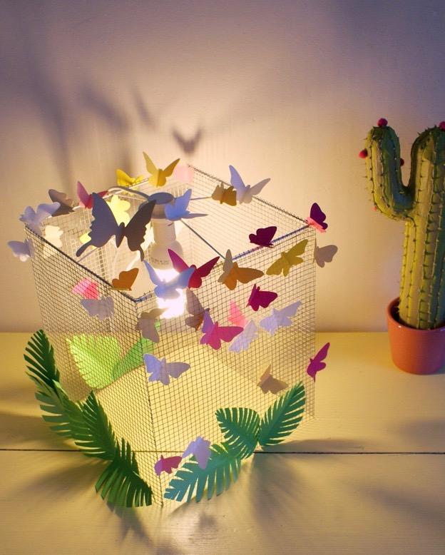 lampe oiseaux en cage volière à faire soi meme modele patron tutoriel