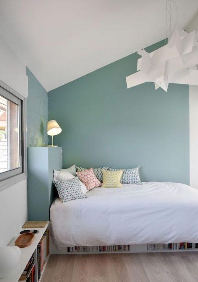 couleur de chambre bleu turquoise