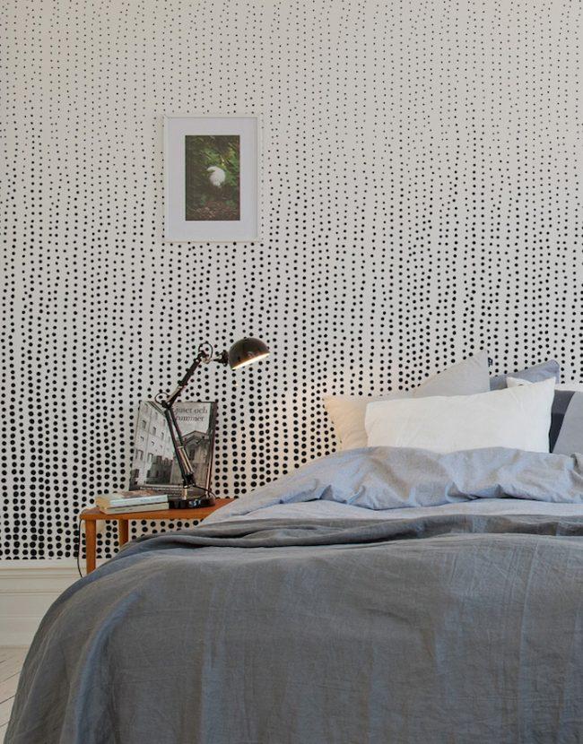 couleur de chambre papier peint point noir