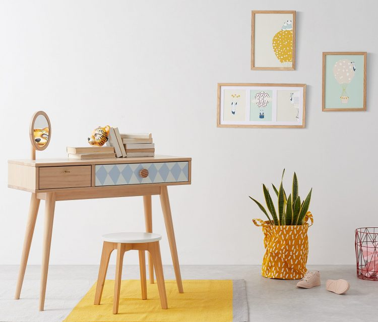 soldes chez made chambre enfant bureau bois scandinave