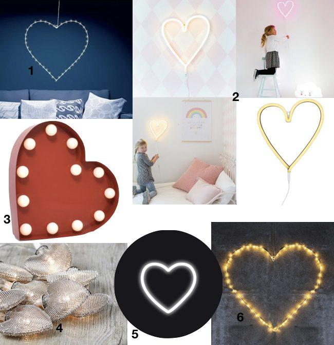 déco à coeur lampe lanterne design idée cadeau saint Valentin