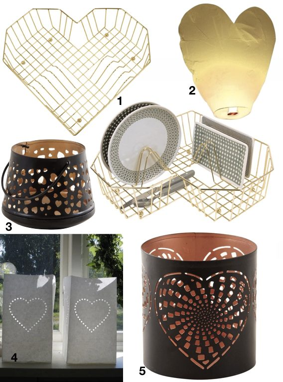 déco à coeur lanterne bougeoir design idée cadeau saint valentin