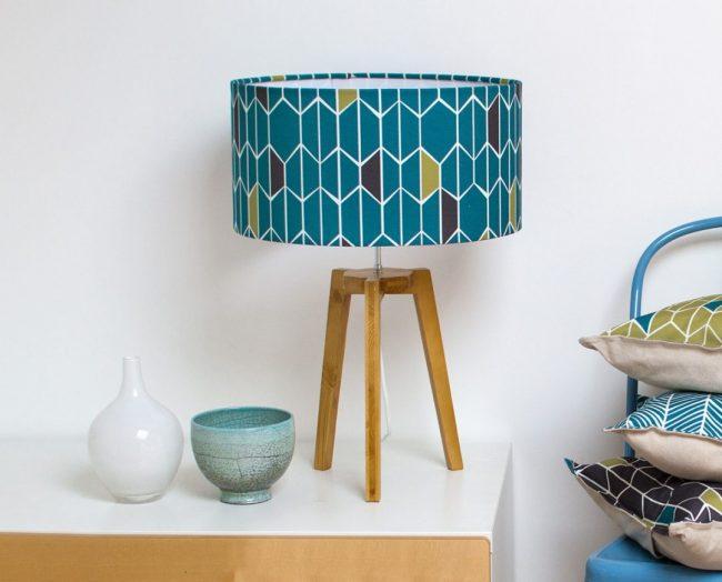 mademoiselle dimanche lampe tissu motif scandinave retro