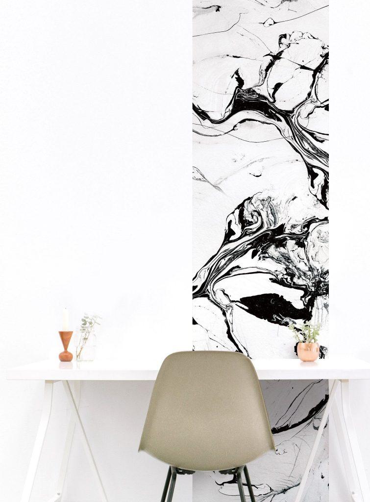 papier peint magnétique pierre marbre bureau