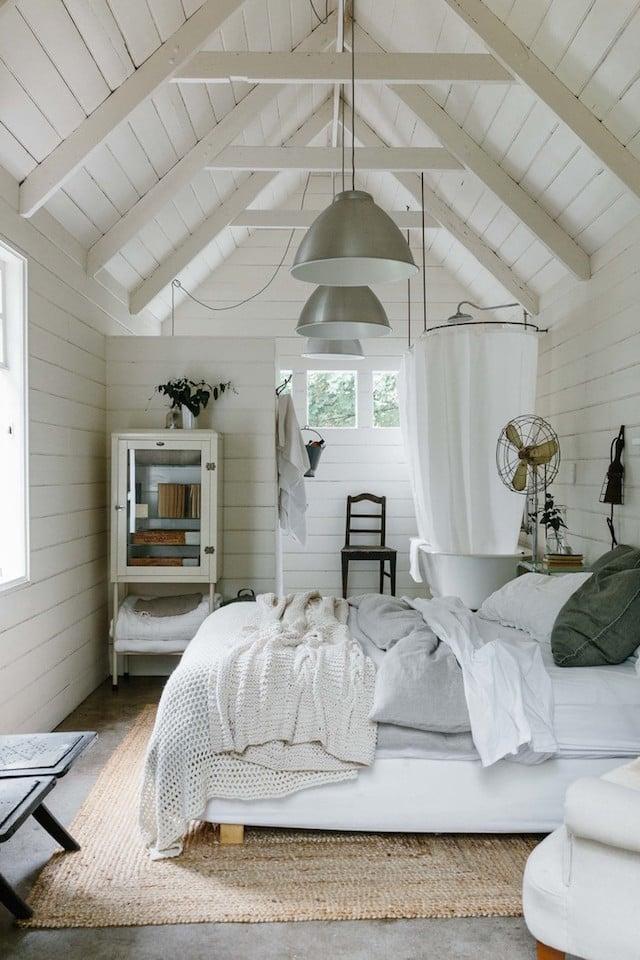 mini maison champêtre suite parentale sous les toits style vintage