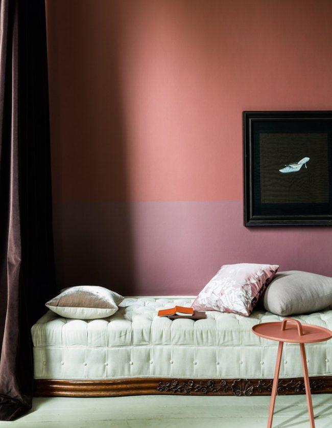 couleur de chambre bicolor blush rose poudre