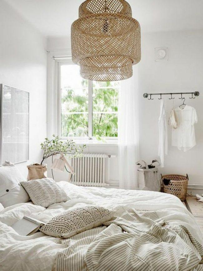 couleur de chambre blanc bois nature cosy