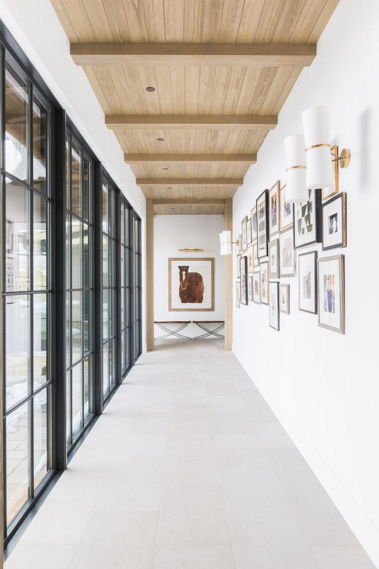 couloir galerie mur de cadre moderne photographie peinture vache