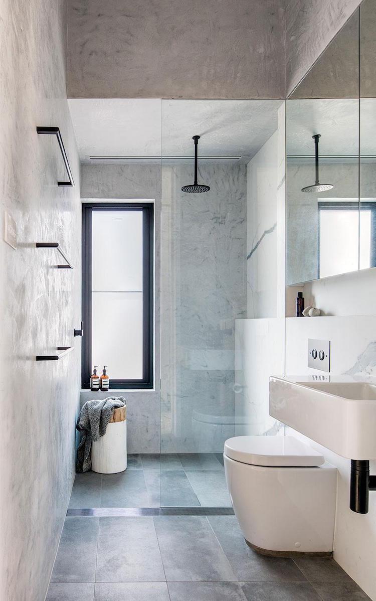 Douche italienne tout ce que vous devez savoir clem atc for Carrelage effet beton cire salle de bain