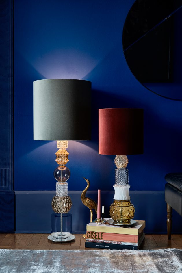 lampe vintage design rasmus larsson verre piece unique