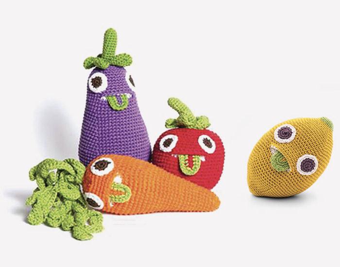 maisonobjet paris 2018 myum ensemble collection caroote naver peluche jouet enfant pomme radis mignon doux art tricot etsy fraise citron navet