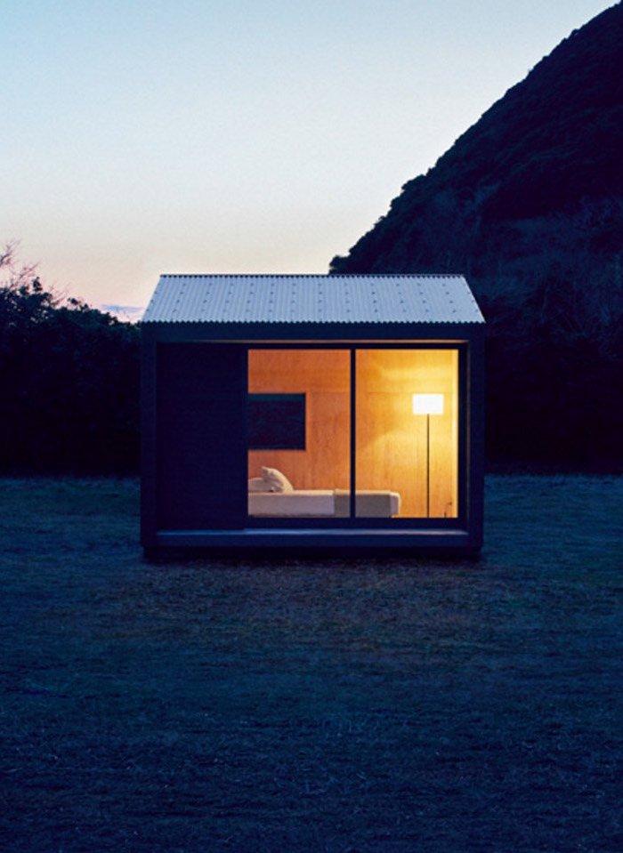 cabane muji nuit exterieur lit montagne