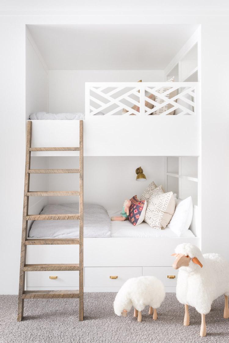 visite decoration chalet blanc chambre enfant esprit montagne