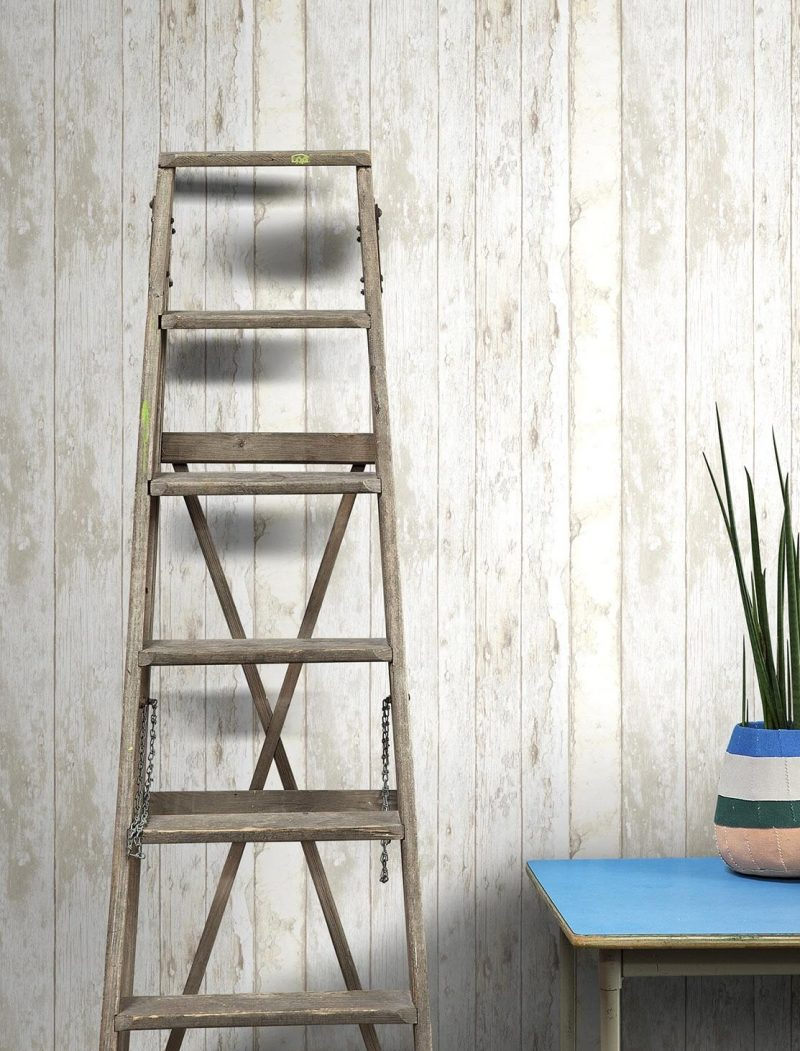 papier peint trompe oeil planche mur de bois blog deco clem around the corner