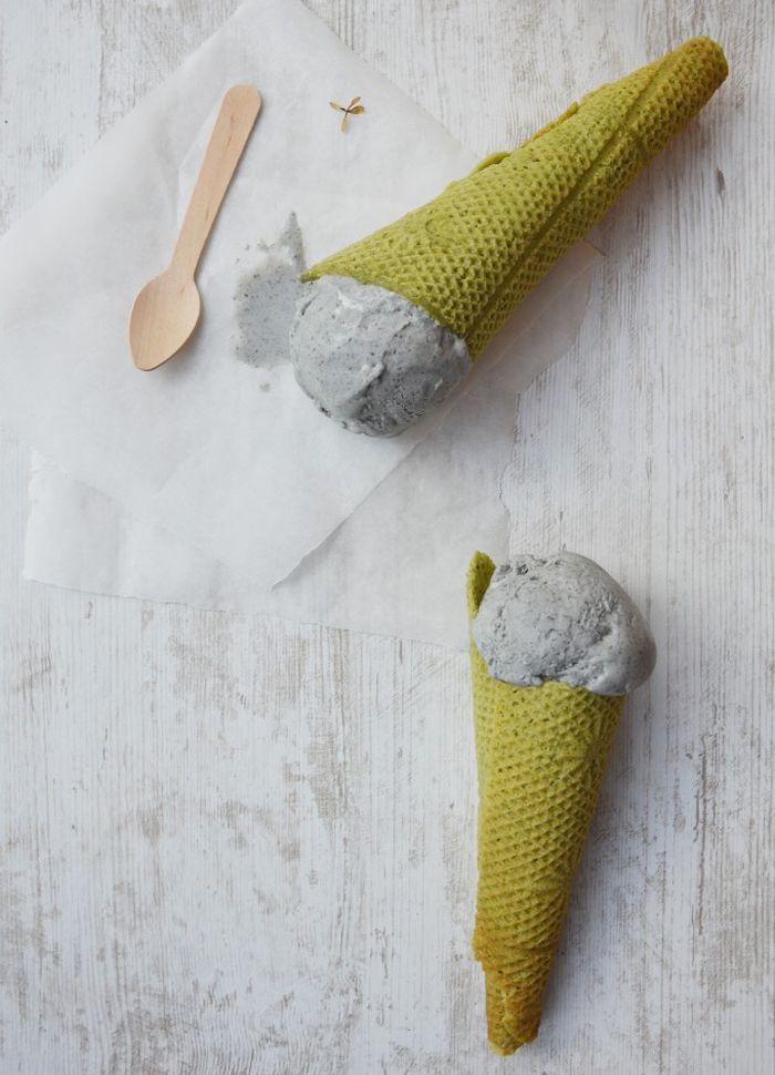 fabriquer cuisiner cone glace patisserie originale