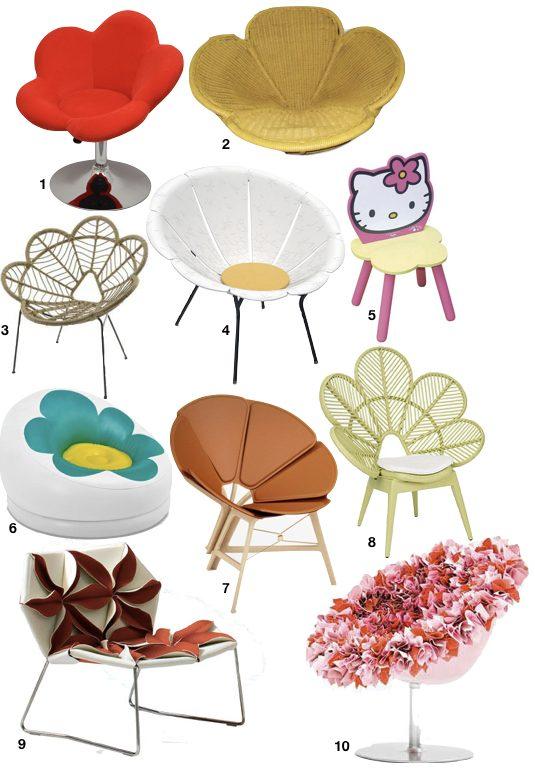 chaise fauteuil en forme de fleur interieur exterieur blog deco salon