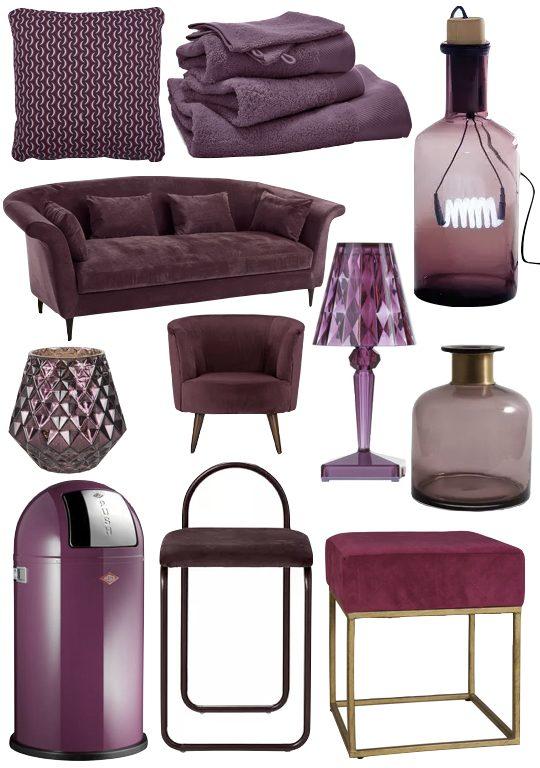 meuble couleur prune dans décoration intérieure blog clem around the corner