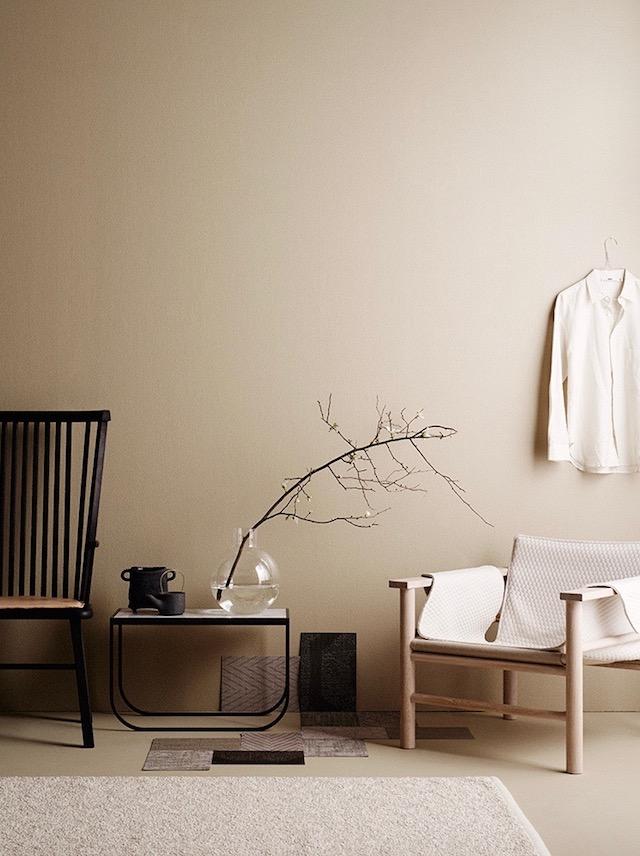 salon camaieu de beige marron déco slow living japandi decoration minimaliste masculine