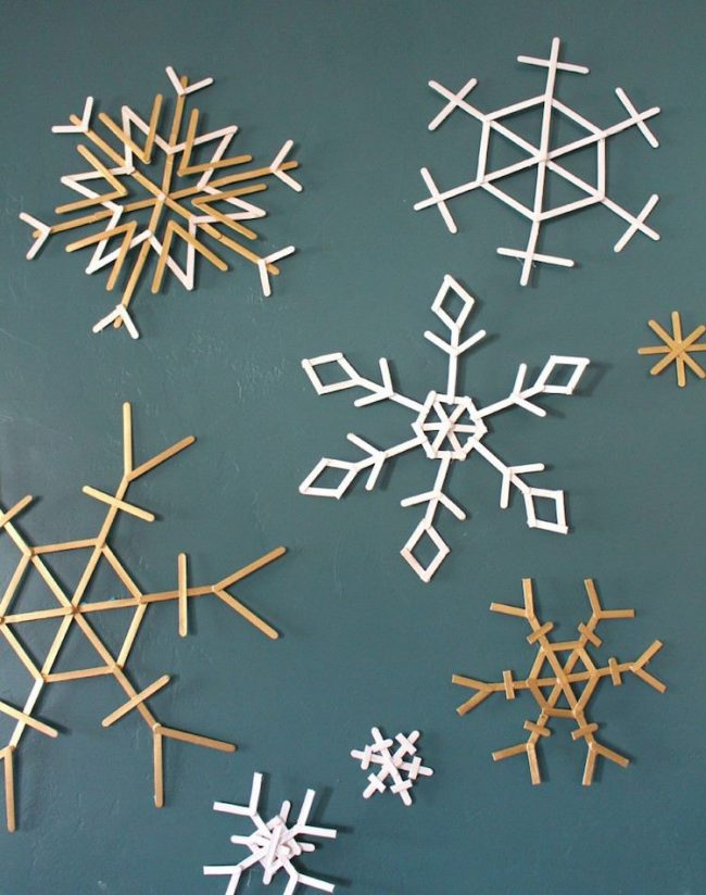 diy origami flocon de neige blog deco baton glace