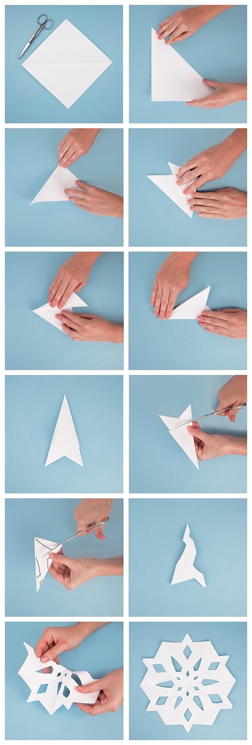 diy enfant comment faire origami flocon neige papier