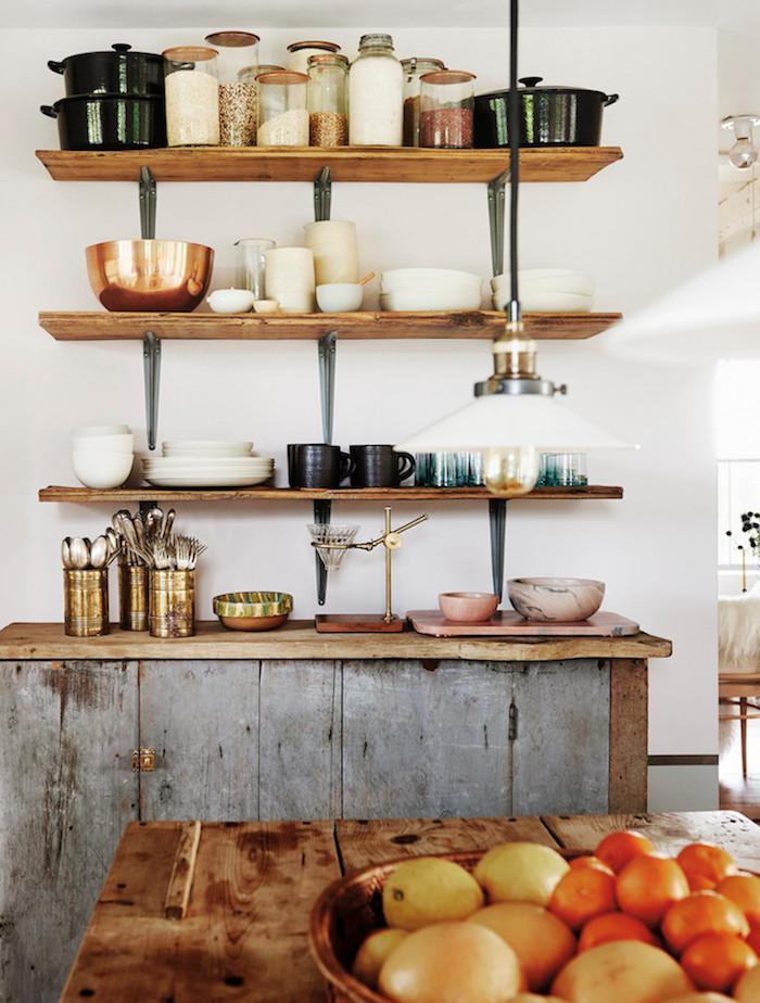 ancienne ferme rénovée cuisine rustique moderne blog deco