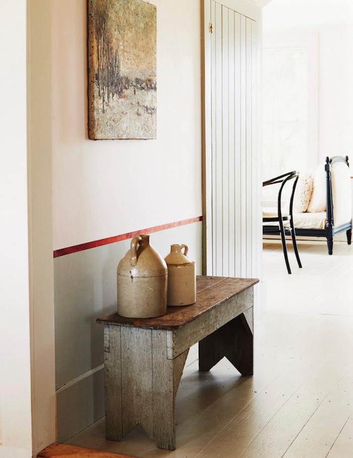 ancienne ferme rénovée banc en palette idee diy meuble