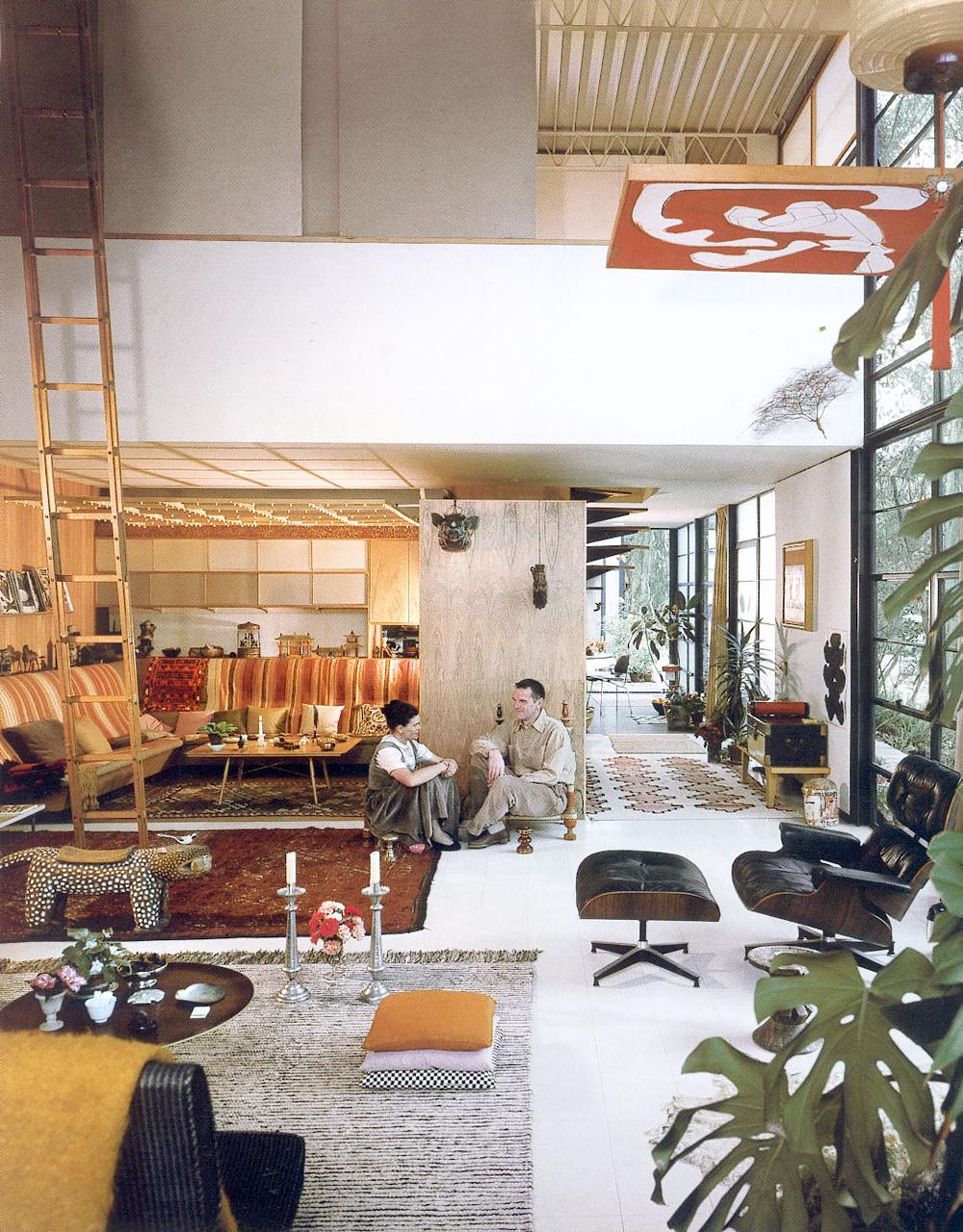 Charles et Ray maison Eames interieur design 50s modernisme