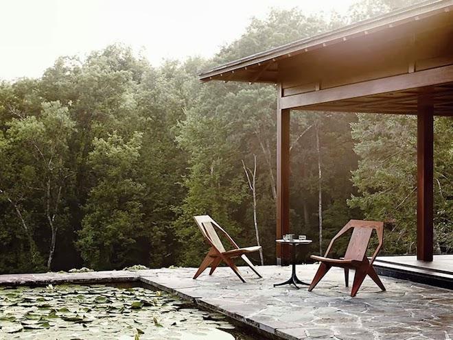 maison eames terrasse exterieur nature foret los angeles