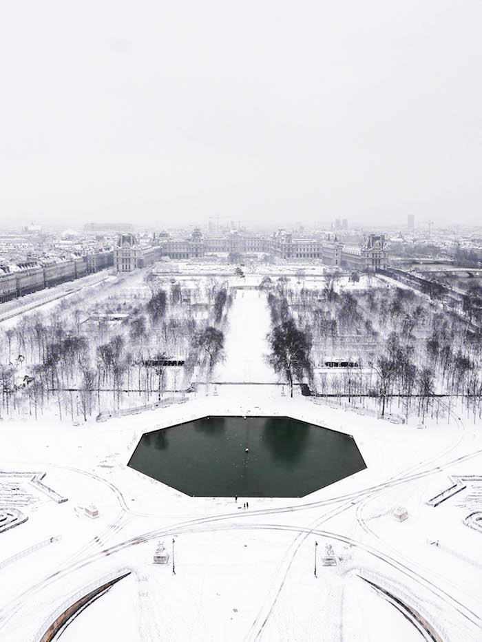 paris sous la neige photo video vue grande roue parc
