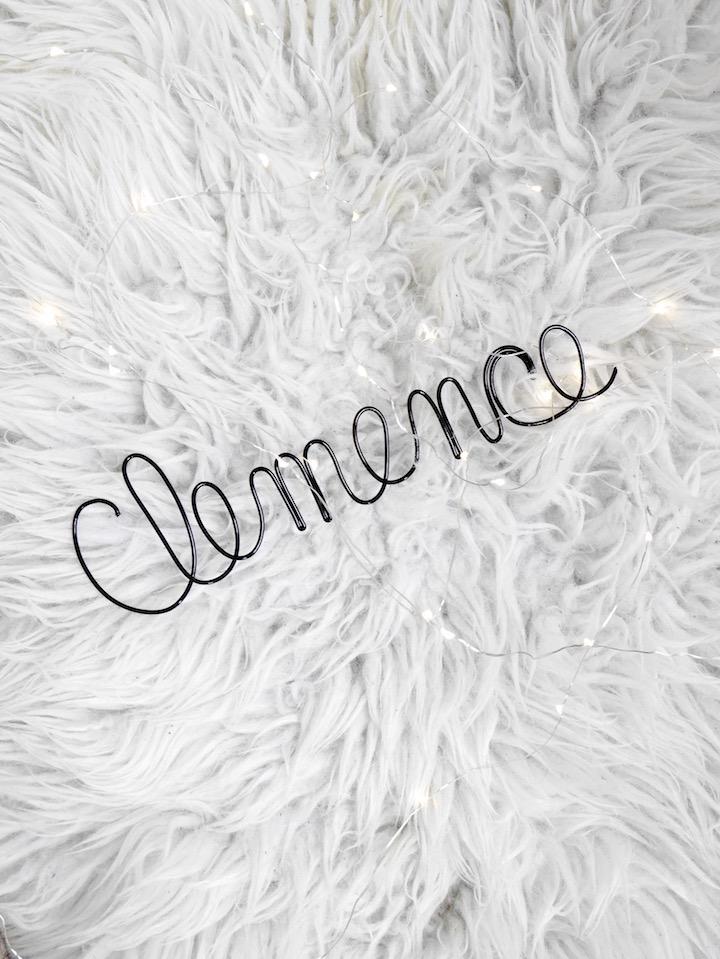 prénom fil de fer tuto diy blog deco clemence