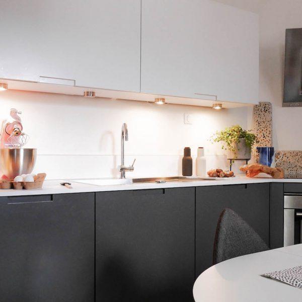 cuisine grise et blanche paris darty hotte design moderne inox