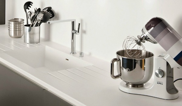 darty cuisine corian plan de travail lavabo integre resine minerale