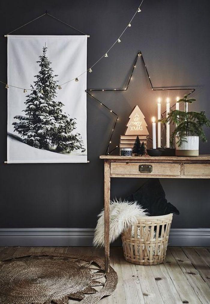 style rustique chic noir chambre idee decoration