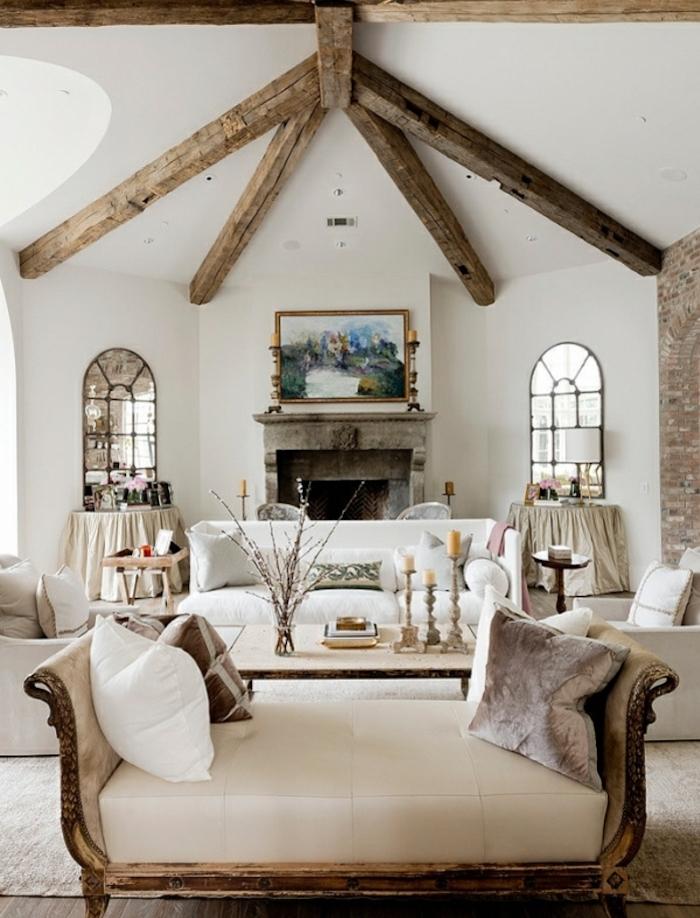 style rustique maison blanc bois chic champetre