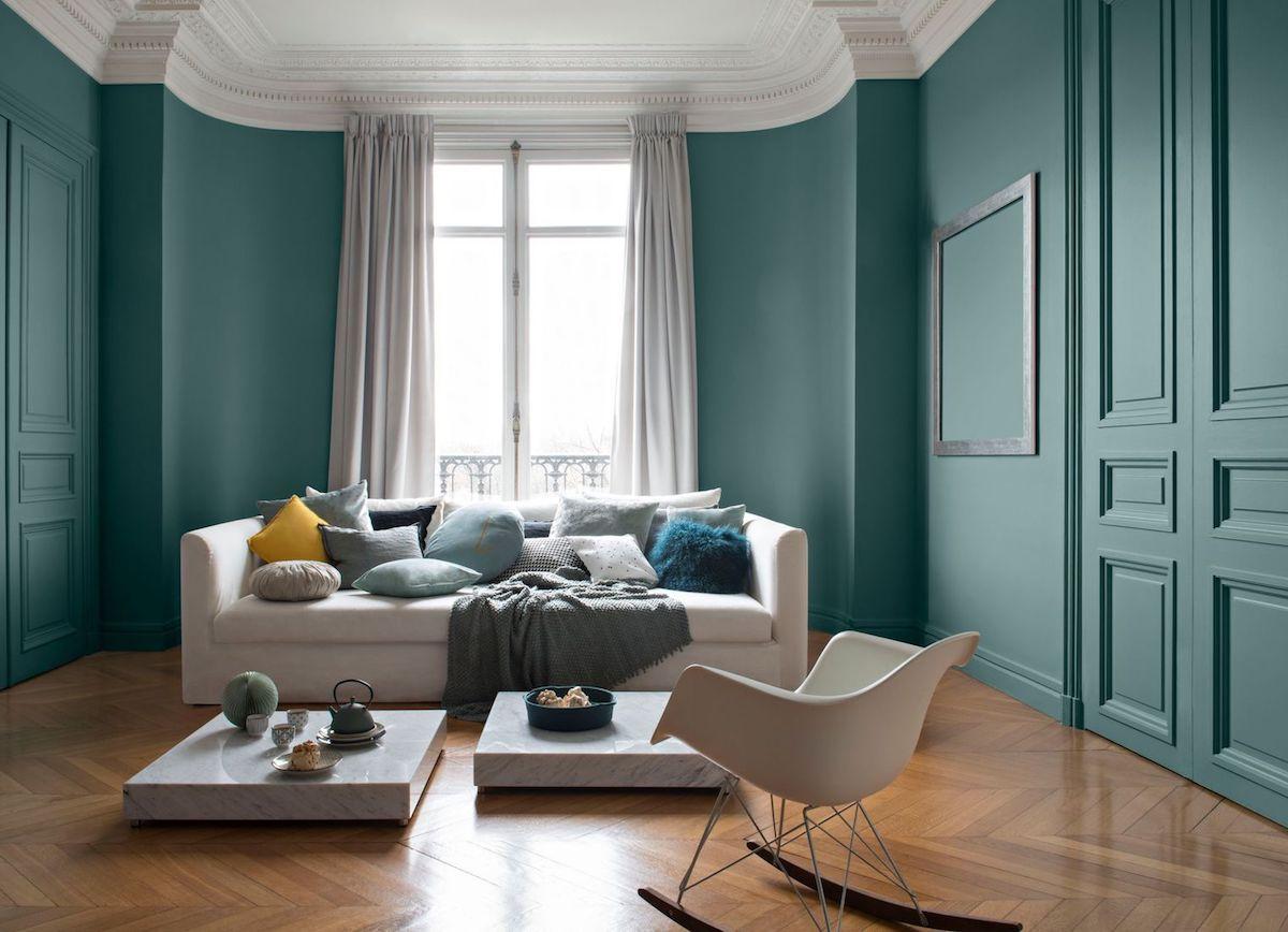 Quel Mur Peindre En Couleur Salon déco vert canard : tout ce qu'il faut savoir - clem around