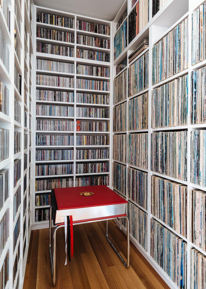 villa californienne bibliotheque vinyles