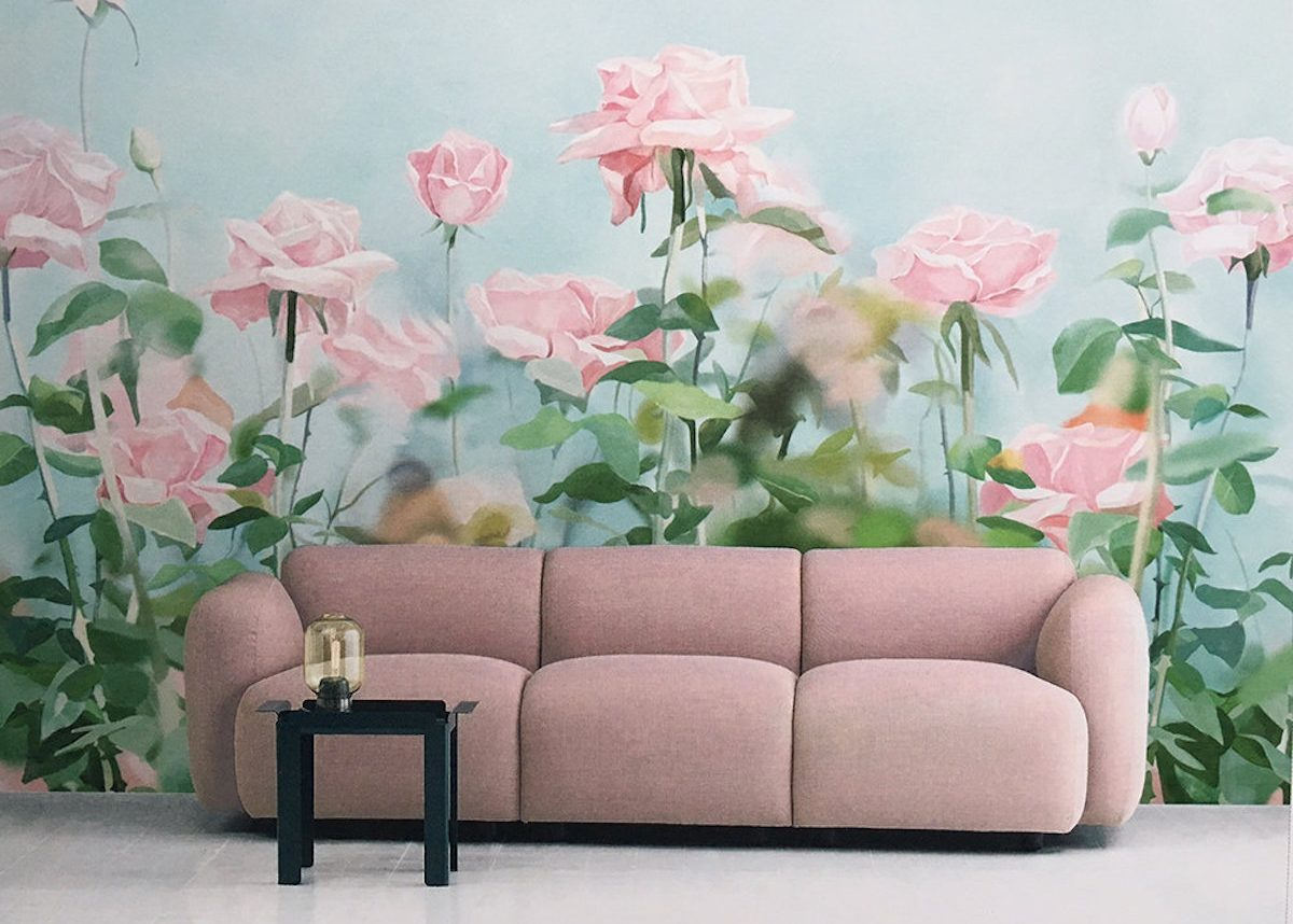deco papier peint floral geant motif blog clem around the corner
