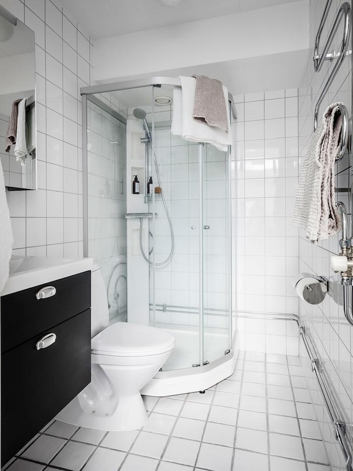 petit appartement blanc deco sdb