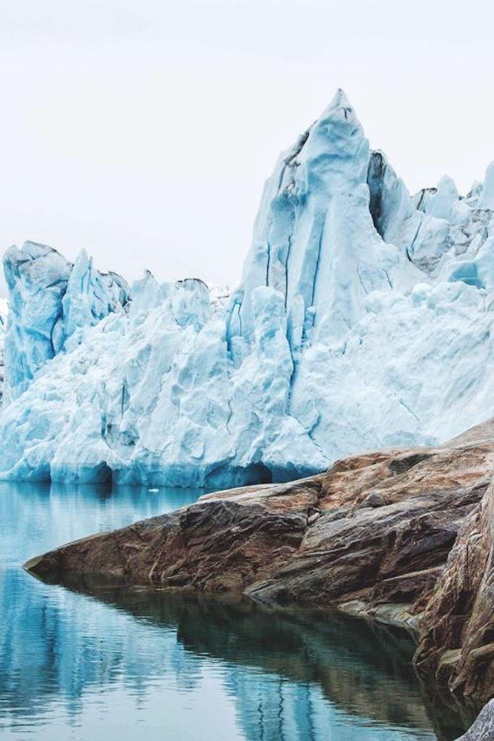 bleu glacier montagne neige eau glace