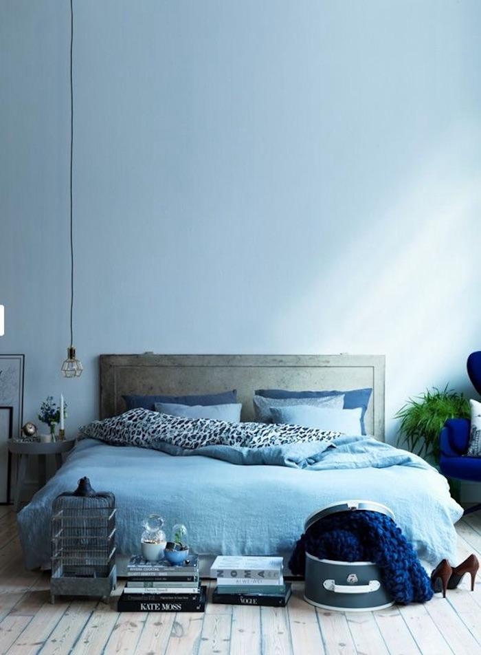bleu glacier chambre adulte lit boheme