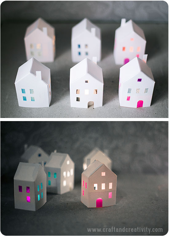 diy photophore en papier maison patron template tutoriel