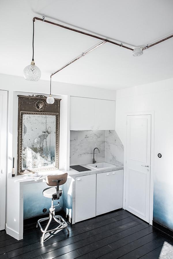 16m2 paris cuisine kitchenette paris faux marbre lavabo evier plaques cuisson vitroceramique cuisine appart