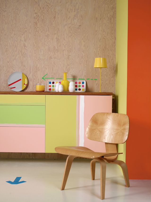 buffet diy couleur pastel deco coloree personnaliser meuble ikea