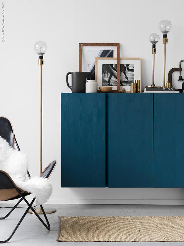 ikea hack meuble buffet diy bleu canard blog deco diy