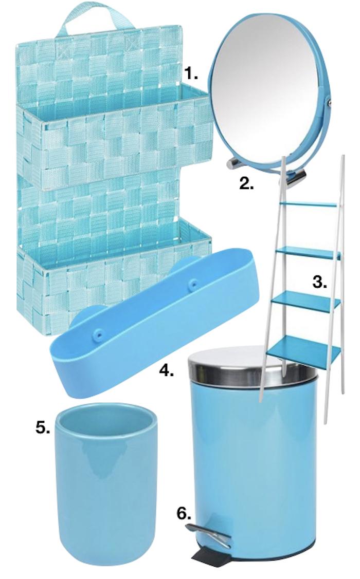 bleu glacier salle de bain poubelle etagere miroir