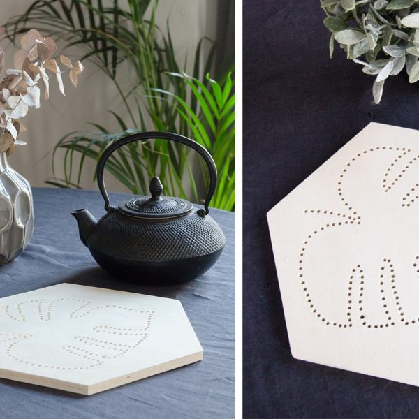 dessous de plat original diy monstera blog deco clem around the corner